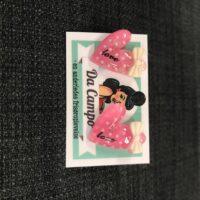 Rockabilly hjerte LOVE øreringe pink