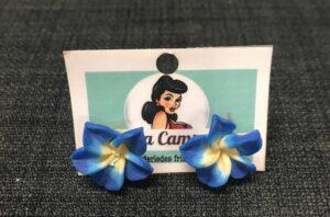 Blå blomsterøreringe