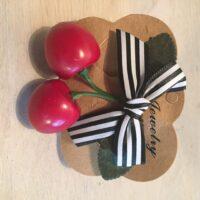 Kirsebærsløjfe - stribet - accessories rockabilly